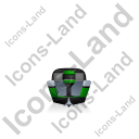 Motorboat Back Green Icon, PNG/ICO, 128x128