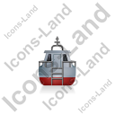 Rescue Lifeboat Back Grey Icon
