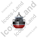 Rescue Lifeboat Front Black Icon, PNG/ICO, 128x128
