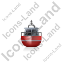 Rescue Lifeboat Front Red Icon, PNG/ICO, 128x128