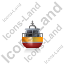 Rescue Lifeboat Front Yellow Icon, PNG/ICO, 128x128