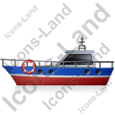 Rescue Lifeboat Left Blue Icon