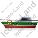 Rescue Lifeboat Left Green Icon