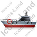 Rescue Lifeboat Left Grey Icon
