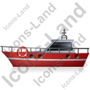 Rescue Lifeboat Left Red Icon, PNG/ICO, 128x128