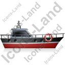 Rescue Lifeboat Right Black Icon