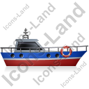 Rescue Lifeboat Right Blue Icon