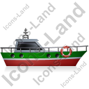 Rescue Lifeboat Right Green Icon