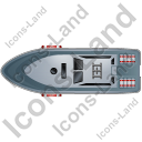 Rescue Lifeboat Top Grey Icon