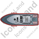 Rescue Lifeboat Top Red Icon