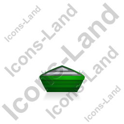 Boat Back Green Icon, PNG/ICO, 256x256