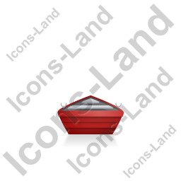 Boat Back Red Icon, PNG/ICO, 256x256