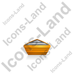 Boat Back Yellow Icon, PNG/ICO, 256x256