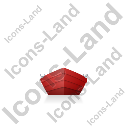 Boat Front Red Icon, PNG/ICO, 256x256