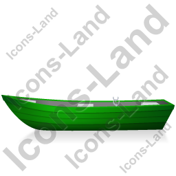 Boat Left Green Icon, PNG/ICO, 256x256