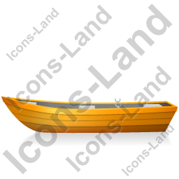 Boat Left Yellow Icon, PNG/ICO, 256x256