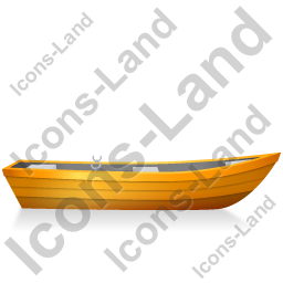 Boat Right Yellow Icon, PNG/ICO, 256x256