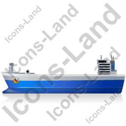 Bulk Carrier Left Blue Icon