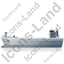 Bulk Carrier Left Grey Icon