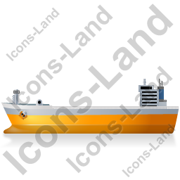Bulk Carrier Left Yellow Icon