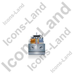 Container Ship Front Grey Icon, PNG/ICO, 256x256