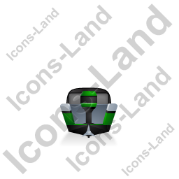 Motorboat Back Green Icon, PNG/ICO, 256x256