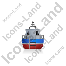 Rescue Lifeboat Back Blue Icon