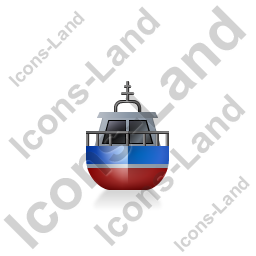Rescue Lifeboat Front Blue Icon