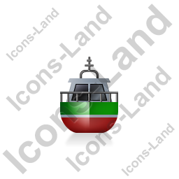 Rescue Lifeboat Front Green Icon