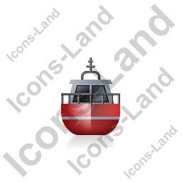Rescue Lifeboat Front Red Icon, PNG/ICO, 256x256