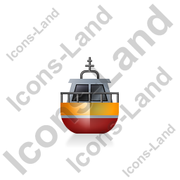 Rescue Lifeboat Front Yellow Icon, PNG/ICO, 256x256