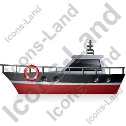 Rescue Lifeboat Left Black Icon