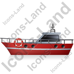 Rescue Lifeboat Left Red Icon, PNG/ICO, 256x256