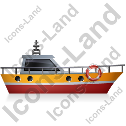 Rescue Lifeboat Right Yellow Icon