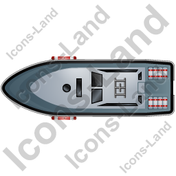 Rescue Lifeboat Top Black Icon