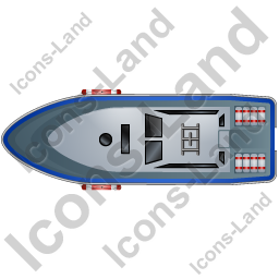 Rescue Lifeboat Top Blue Icon