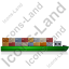Barge Right Green Icon, PNG/ICO, 64x64