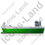 Bulk Carrier Left Green Icon, PNG/ICO, 64x64