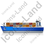 Container Ship Left Blue Icon