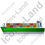 Container Ship Left Green Icon