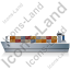 Container Ship Left Grey Icon