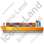 Container Ship Left Yellow Icon