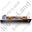 Container Ship Right Black Icon
