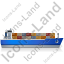 Container Ship Right Blue Icon