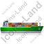 Container Ship Right Green Icon