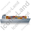 Container Ship Right Grey Icon