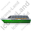 Cruise Ship Left Green Icon, PNG/ICO, 64x64