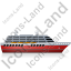 Cruise Ship Right Red Icon, PNG/ICO, 64x64