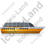 Cruise Ship Right Yellow Icon, PNG/ICO, 64x64