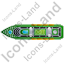 Cruise Ship Top Green Icon, PNG/ICO, 64x64